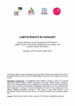UPR jelentés 2021